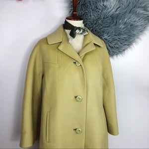 Vtg 60s Mod Wool Space Age Midi Coat M